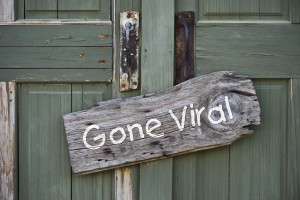 Old gone viral sign.