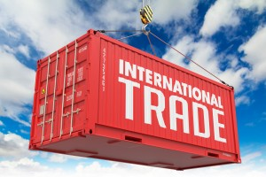 International Trade on Red Container.